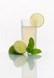 Glass with cold lemonade Royalty Free Stock Photography