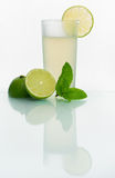 Glass with cold lemonade Royalty Free Stock Photos