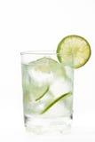 Glass of cold natural lemonade. Glass containing cold natural lemonade Stock Photos
