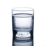 Glass of cold water Stock Photos