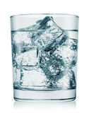 Glass of cold water with gas Stock Images