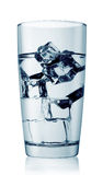 Glass of cold water with ice cubes Royalty Free Stock Photos