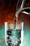 Glass of cold water Royalty Free Stock Image