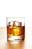 Glass of cold whiskey Stock Photo