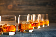 Glass of cold whiskey Royalty Free Stock Images