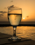 Glass of cold white wine Stock Photography