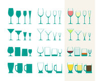 Glass collection Stock Image