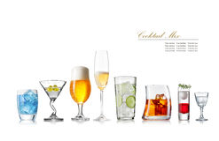 Glass collection Royalty Free Stock Image