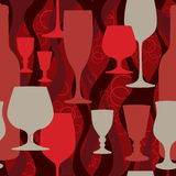 Glass collection. Party texture  illustration. Royalty Free Stock Photos