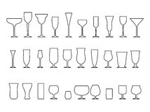 Glass collection Stock Images