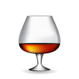 Glass Collector 50 year-old French Cognac on White Background. V Stock Images