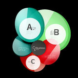 Glass color circles - infographic elements on black Stock Photos