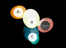 Glass color circles - infographic elements on black Royalty Free Stock Photography