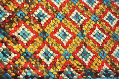 Glass Color Mosaic Pattern Style. Patterns caused by glass mosaic. Is a kind of art Stock Image
