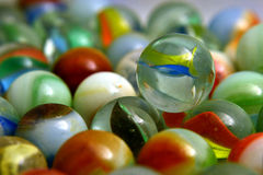 Glass Colored Balls. Royalty Free Stock Photography