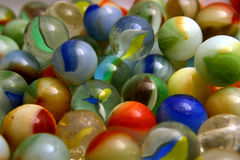 Glass Colored Balls. Royalty Free Stock Images
