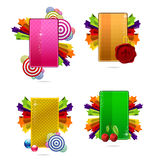 Glass colored creative cards set Royalty Free Stock Photo