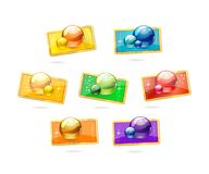 Glass and colored tags label set Stock Images