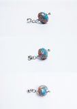 Glass colorful blue beads Stock Photo