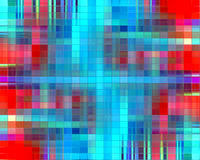 Glass colorful design in red and blue colors, background. Mosaic glass colorful design and background in red, blue and orange hues with small sparkling squares Stock Photo
