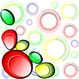 Glass colorful shapes. Stock Photos