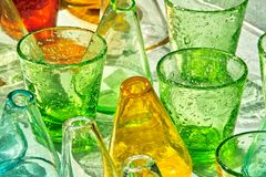 Glass Colors Royalty Free Stock Photography