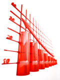 Glass columns of diagram Stock Images