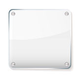 Glass company name plate Stock Photography