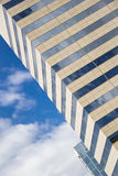 Glass, concrete and sky. Abstract  building background. Photo Stock Images