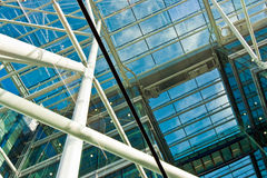Glass construction Stock Photos