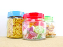 Glass container royalty free stock images