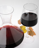 Glass container for wine Stock Images