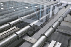 Glass conveyor line Stock Image
