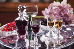 Glass of cordial Stock Photography