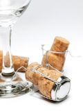 Glass and corks Stock Image