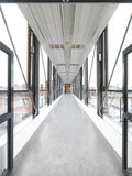 Glass corridor Royalty Free Stock Photography
