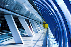 Glass corridor Royalty Free Stock Images