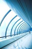 Glass corridor stock images