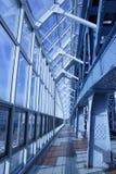 glass corridor Royalty Free Stock Image
