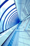 Glass corridor in modern business centre Royalty Free Stock Photos