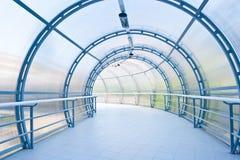 Glass corridor in office centre Stock Photos