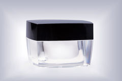 Glass cosmetic jar Stock Image