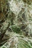 Glass cracked broken Stock Photos