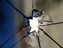 Glass  cracks Royalty Free Stock Photo