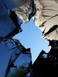 Glass  cracks  splinters  broken Royalty Free Stock Image