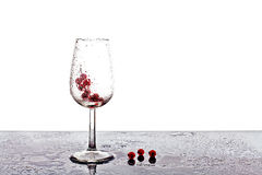 Glass of cranberry juice Royalty Free Stock Images