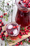Glass with Cranberry Juice Stock Images