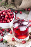 Glass with Cranberry Juice Stock Photo
