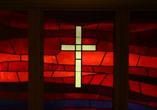 Glass Cross royalty free stock images