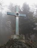 Glass cross near Furth im Wald  in Bayerischer Wald Stock Photo